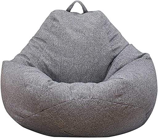 Lazy Lounger Bean Bag Storage Chair Cover for Adults and Kids Indoor Outdoor for Home Garden Lounge Living Room Blue, 7080cm Classic Bean Bag Sofa Chairs Without Filler