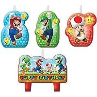 CAPRILO Lote de 4 Velas Infantiles Decorativas Super