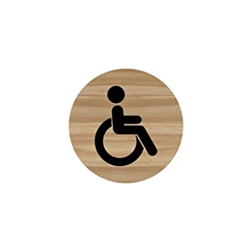 printed plywood accessible symbol sign 100 x 100mm amazon co uk