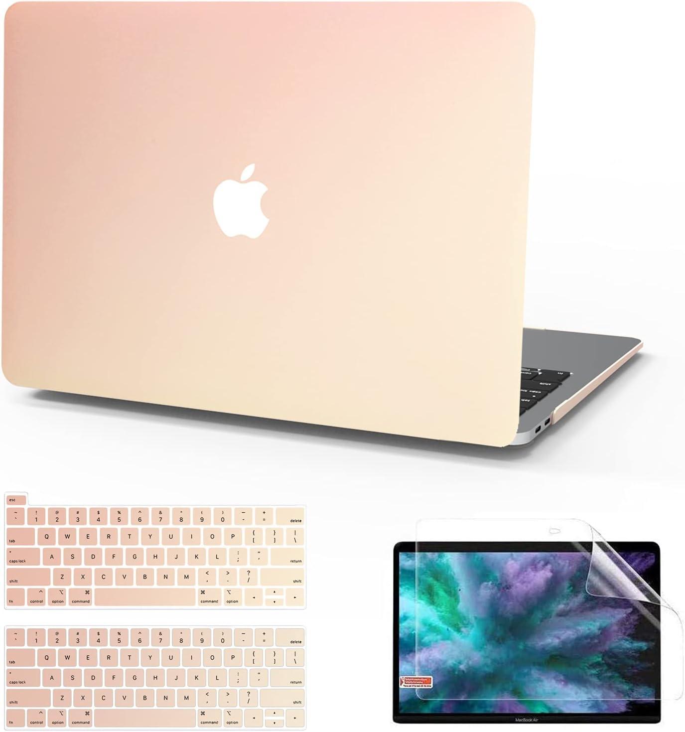 Anban MacBook Pro 13 Inch Case 2020 2019 2018 2017 2016 Release A2338 M1 A2251 A2289 A2159 A1989 A1706 A1708, Slim Plastic Hard Cover + Keyboard Cover + Screen Skin, Mac Pro 2020 M1 Case Touch Bar