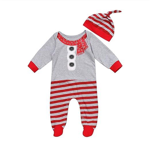 68c8194c7 Amazon.com  Newborn Baby Christmas Pajamas Boys Girl Long Sleeve Red ...
