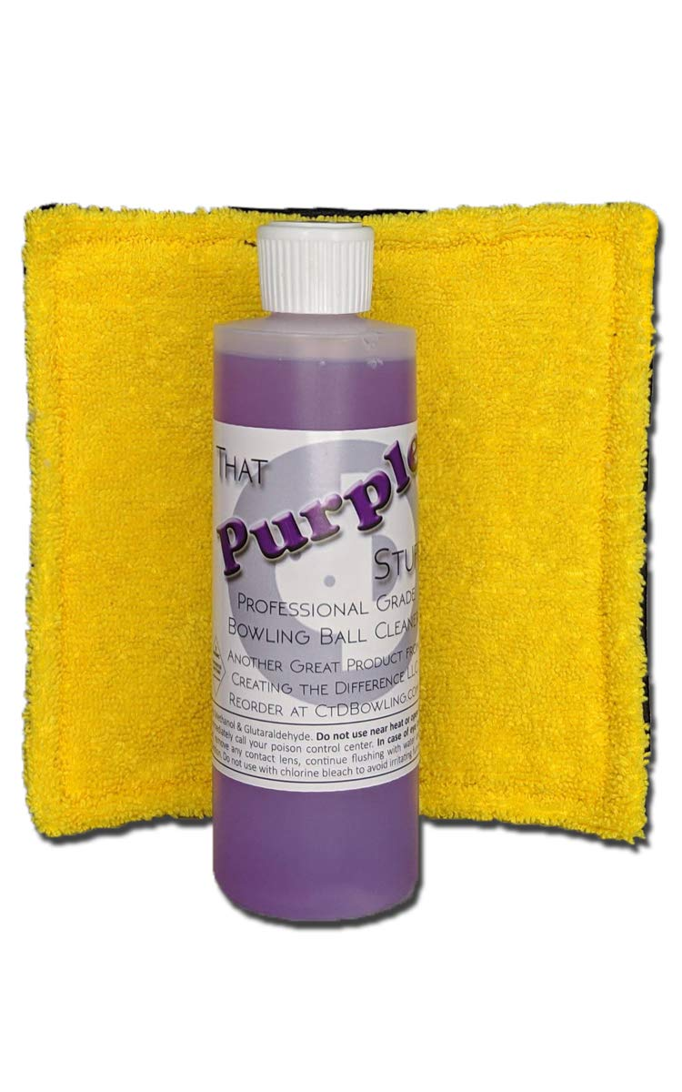 Creating the Difference That Purple Stuff Bowling Ball Cleaner with Pad | 8 oz Bottle | Combo Pack | Power Pad Included