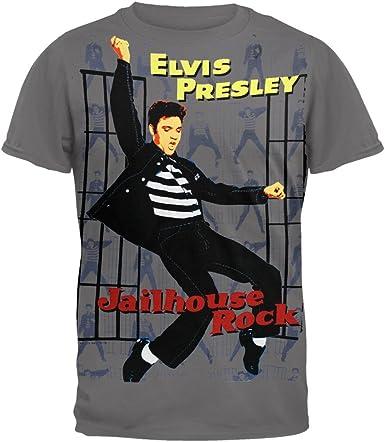 Elvis Presley - para Hombre Cárcel Subway T-Shirt Rock: Amazon.es: Ropa y accesorios