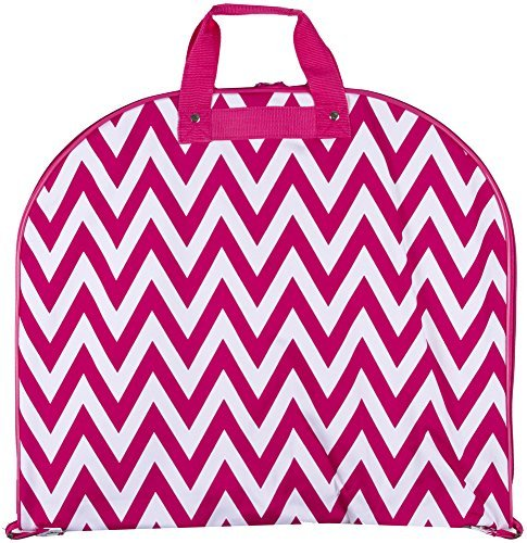 d6e10f02878 Ever Moda Hanging Garment Bag, Pink White Chevron