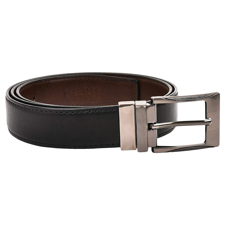 Color-Black//Brown||BL-01 Pu-Leather Formal Belt For Men