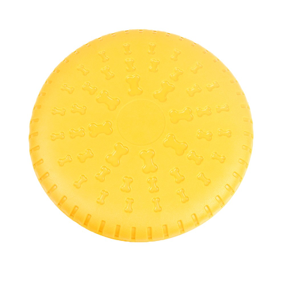 foviupet Dog Flying Discs,TPR Foam Pet Training Flying Saucer Interactive Toys for Medium or Large Dogs Outdoor (Yellow) by foviupet (Image #1)