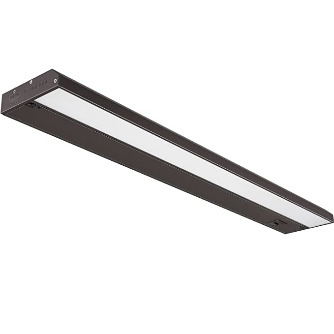 GetInLight 3 Color Levels Dimmable LED Under Cabinet Lighting with ETL Listed, Warm White (2700K), Soft White (3000K), Bright White (4000K), Bronze Finished ...