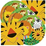 Jungle Animals Themed Birthday Party Napkins And Plates Serves 32