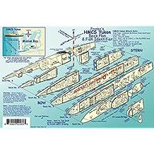 HMCS Yukon Wreck Deck Plan & San Diego Kelp Forest Creatures Guide Franko Maps Laminated Fish Card