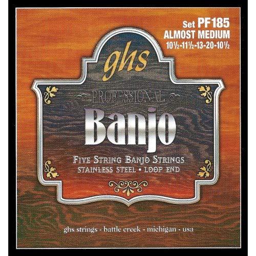 - GHS Stainless Steel 5-String Banjo Strings - Almost Medium