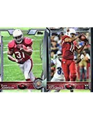 Arizona Cardinals 2015 Topps NFL Football Complete Regular Issue 13 Card Team Set Including Carson Palmer, Patrick Peterson, Larry Fitzgerald and Others