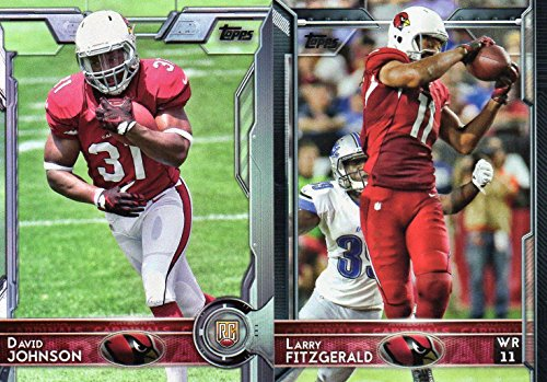 Arizona Cardinals 2015 Topps NFL Football Complete Regular Issue 13 Card Team Set Including Carson Palmer, Patrick Peterson, Larry Fitzgerald and Others (Card Cardinals Football)
