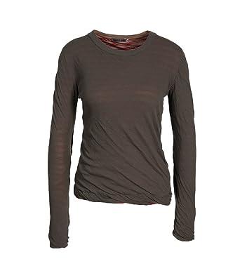 a1931d1594bec7 GRETA   LUIS Damen Doppellagiges Shirt in Oliv-Grau  Amazon.de  Bekleidung