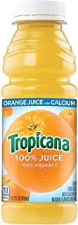 product image for Tropicana 100% Orange Juice with Calcium, 15.2 fl oz Bottles, (Pack of 12)