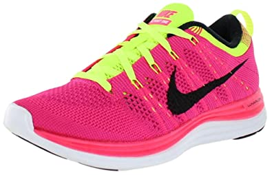 Nike Womens Flyknit One+ Pink Black Fireberry 554888-606 (11, Pink Flash/