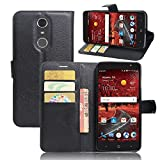 ZTE Grand X4 Case, DISLAND(TM) Flip PU Leather Card Slot Case Magnetic Closure Stand Pouch Cover Fashion Wallet Case Cover for ZTE Grand X4,Black