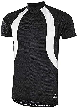 Crivit Sports® Men s Cycling Jersey Black black white Size M 48 50 ... f1418f2a4