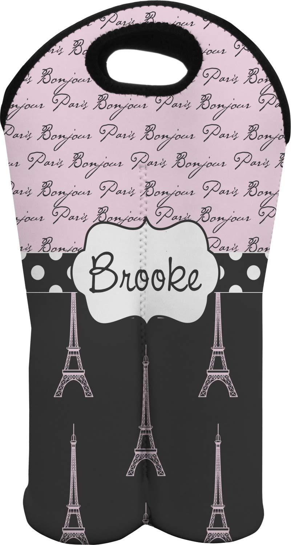 Paris Bonjourとエッフェル塔ワイントートバッグ( 2 Bottles ) ( Personalized )   B00JOKAKSY