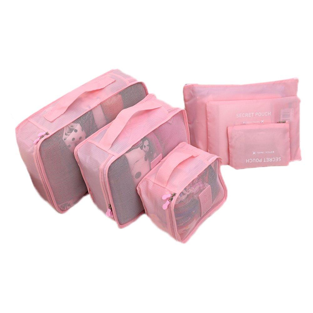 Da.Wa 6pcs Organisateurs de Voyage Packing Cubes Pouches Travel Storage Bag/Travel Packing Organizer 6 Set Luggage Organizer Packing Cubes