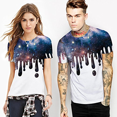 Tees shirt Da E Manica Casual nbsp; Maglietta Unisex 3d Galaxy Sky Oyabeautye Uomo Corta Stampato Donna T nwqA18xFxf