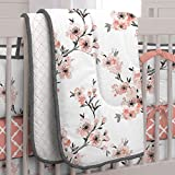 Carousel Designs Light Coral Cherry Blossom Crib Comforter