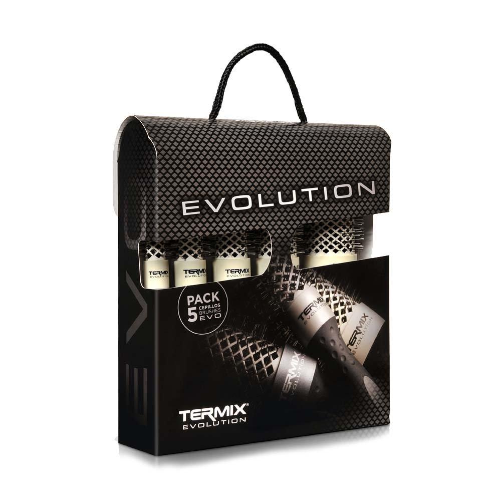 Termix Evolution Soft - Confezione da 5 termici, spazzole speciali per capelli fini P-MLT-EVO5SC