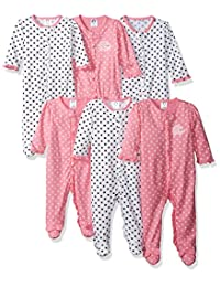 Gerber baby-girls Baby 6 Piece Grow With Me Sleep 'N Play in 3 Sizes