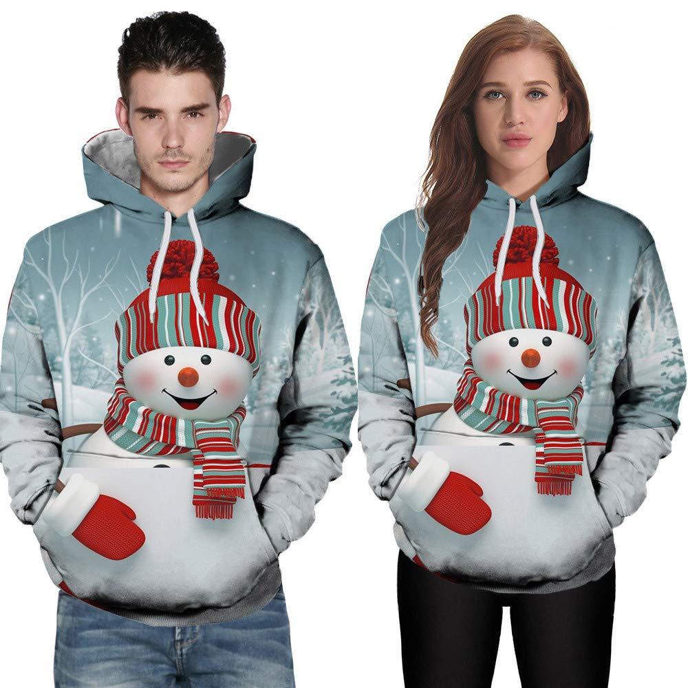 Mr & Mrs Gift for Couples Binmer 3D Printing Long Sleeve Hoodies Sweatshirt Top Blouse Matching Couple Valentine Birthday Wedding (3XL)