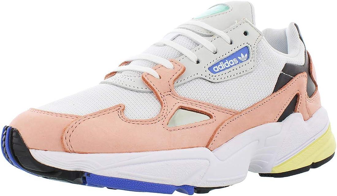 éxito Creyente malla  Amazon.com   adidas Originals womens Falcon fashion sneakers, Footwear White /Trace Pink/Core Black, 7 US   Fashion Sneakers