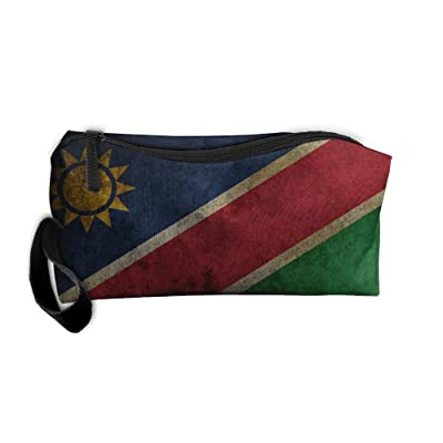 WEEDKEYCAT Vintage Namibia Flag Travel Cosmetic Bag Pen Pencil Portable Toiletry Brush Storage,Multi-function Accessories Sewing Kit Bags Pouch Makeup Carry Case With Zipper