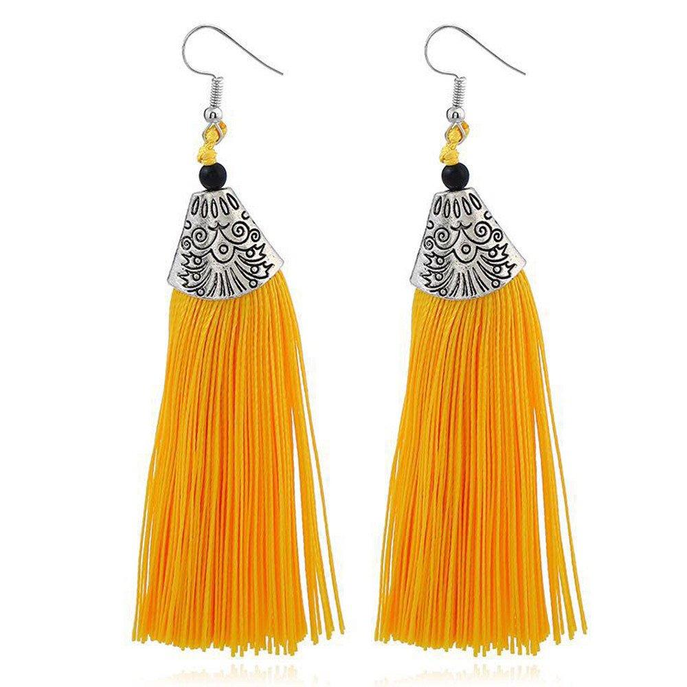 Women Girls Drop /& Dangle Earrings Fringed Earrings Rhinestones Wool Tassels Earring Gorgeous Jewelry Retro Earring Gift for Mom Wife Lover