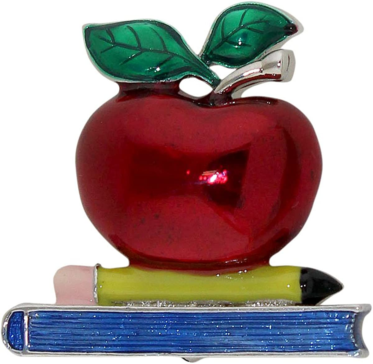 Young girl brooch with apple