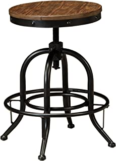 Ashley Furniture Signature Design - Pinnadel Swivel Bar Stool - Counter Height - Set of 2  sc 1 st  Amazon.com & Amazon.com: Costway Vintage Bar Stool Metal Frame Wood Top ... islam-shia.org
