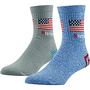 Men's Fun Dress Socks, Funky Patterned Cotton Sock, Ristake Designed Fun Cool Breathable Novelty Socks, 1/2 Pairs