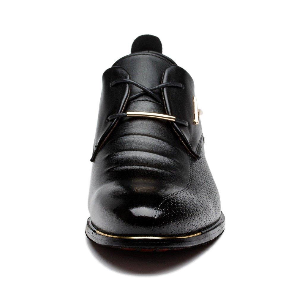 Blivener Men's Pointed Toe Classic Oxford Formal Business Dress Shoes Black US 8.5 by Blivener (Image #5)