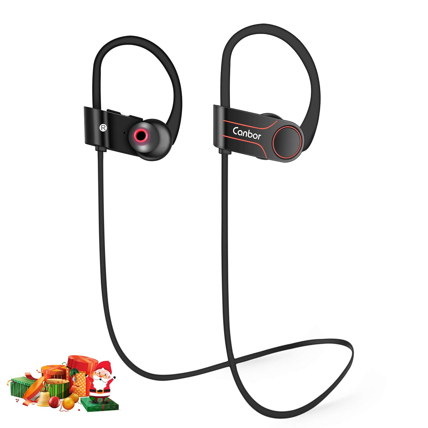 Canbor Bluetooth Headphones Wireless Earphones with Bluetooth 4.1 Sport Stereo Headset, IPX7 Sweatproof Earphones for Running Workout Gym