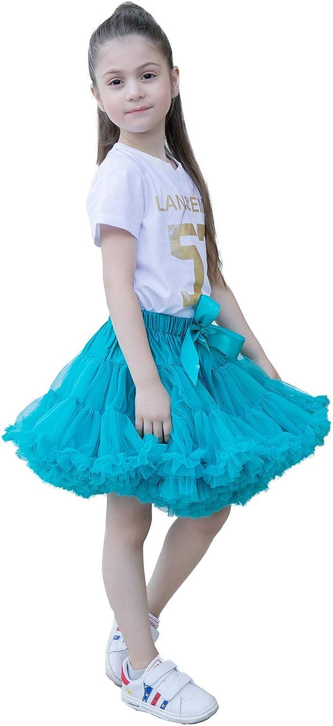 Grey Light Pink Girl Party Pageant Pettiskirt Skirt Dance Petti Tutu Dress 1-8Y