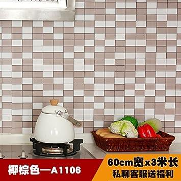 Mueble de cocina con estufa pared calcomanías autoadhesivas resistentes al humo de aceite de baño impermeable ...