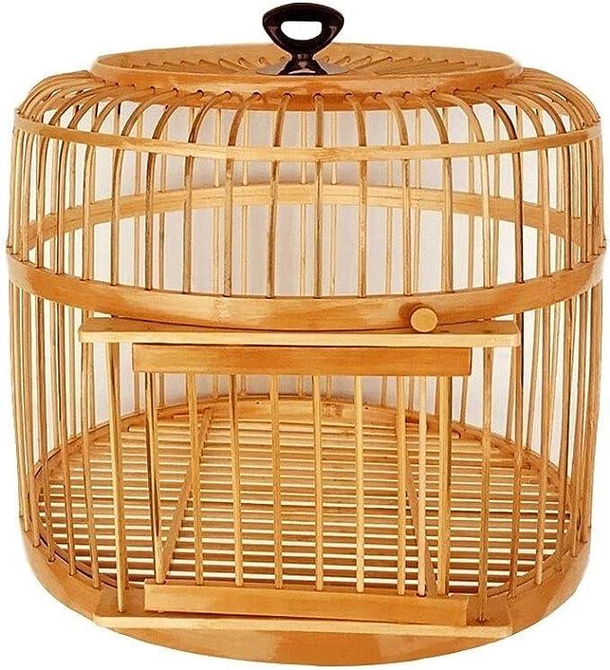 Hkwshop Jaulas para Loros Jaula de pájaros Hecha a Mano Loro Canario Canario Adecuado for la cría de Aves Canarios Jaula Mascota (Color : Natural)