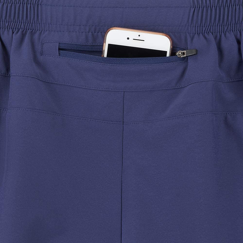 Time To Run Herren-Shorts mit Innenfutter und Rei/ßverschlusstasche