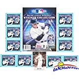 2018 Topps MLB Baseball Stickers Special Collectors Package with 10 Factory Sealed Packs, 32 Page Album & Bonus Babe Ruth Card! Includes Total of 86 New Stickers! Look for all your Favorite Stars!