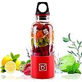 Portable Rechargeable USB Blender, YOMYM Juicer Blender Juice Cup Juice Travel Mini Blender for Fruit, Vegetable, Smoothies, Milkshake 500ml Red (red)
