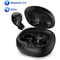 Anbes ANBES D42 In-Ear 5.0 Wireless Bluetooth Earbuds Headphones with Built-in Microphone Volume Control