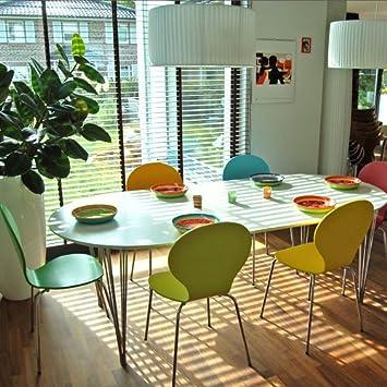 Design Esstisch BONJANNA, weiss, oval, ausziehbar von 170 bis ...