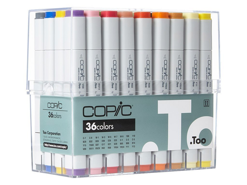 Copic Classic Markers 36-Piece Basic Set