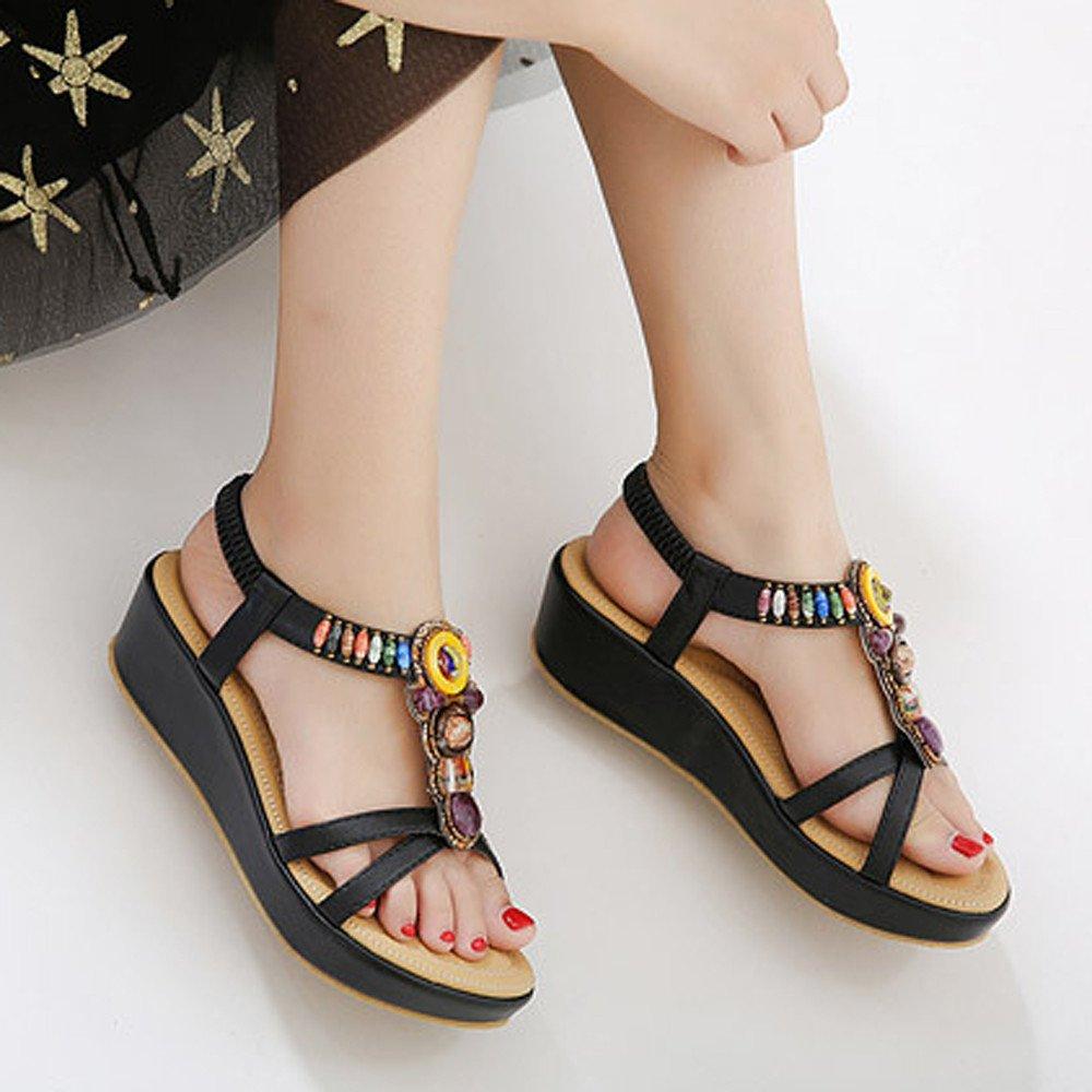 Chaussures Bohême Compensées Sandales Eté mode Femme Femmes sCBtohQrdx