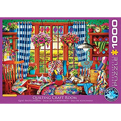 EuroGraphics (EURHR Patchwork Craft Room 1000Piece Puzzle 1000Piece Jigsaw Puzzle: Toys & Games