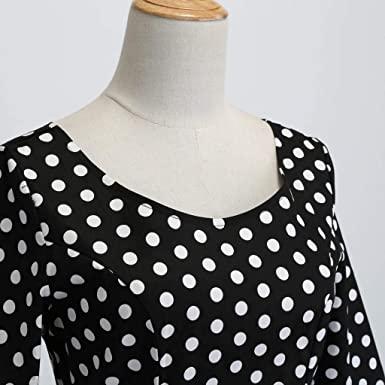 """TUDUZ sukienka koktajlowa w stylu vintage, lata 50., z wycięciem w kształcie litery """"Bow"""", rękawy 3/4, plisowana, w kwiaty, z linii A: Odzież"""