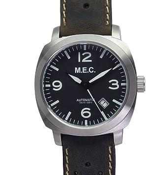 Reloj hombre automático Vintage sumergible acero piel militar nuevo regalo: Amazon.es: Relojes