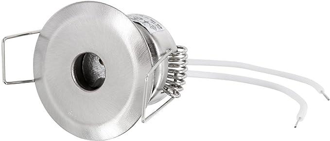 Einbauspot aus massivem Druckguss eisen-geb/ürstet G4 Sternenhimmel versenkt geeignet f/ür G4 LED Leuchtmittel